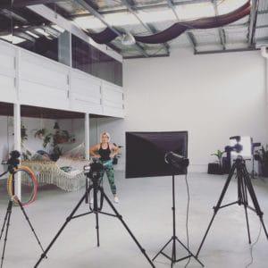 Deanne Love Filming Hula Hoop Tutorial at 11past11studio gold coast