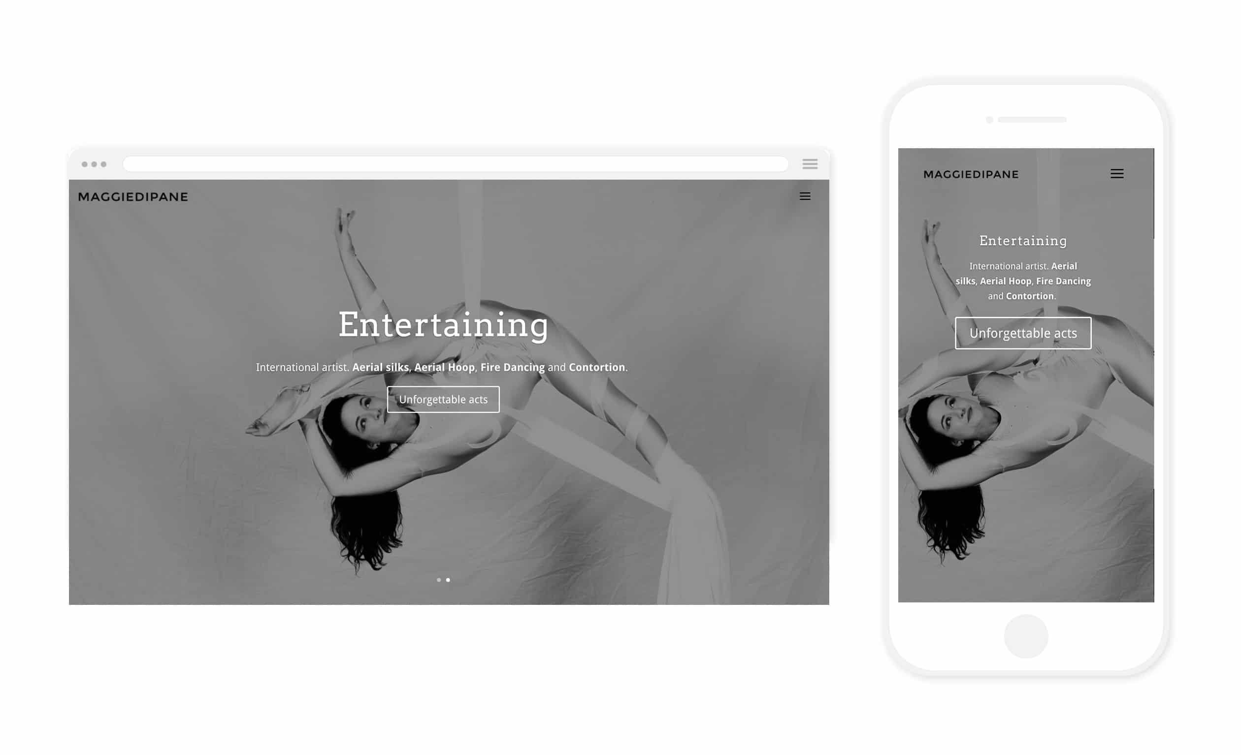 maggiedipane Webdesign by 11past11studio Gold Coast