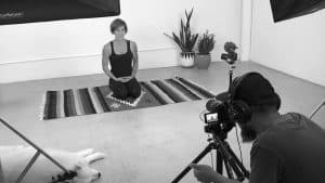 Video Contents Filming for Yoga Tutorials at 11Past11Studio Currumbin Gold Coast
